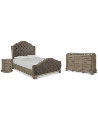 Zarina Bedroom Furniture, 3-Pc. Set (King Bed, Dresser & Nightstand)