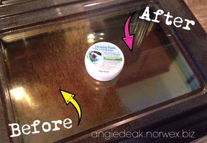5 Minutes To Clean! Norwex Cleaning Paste + Norwex Spirinette U003d Clean Oven  Door!
