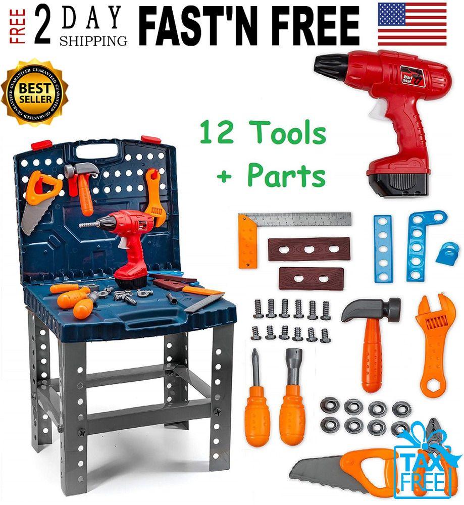 Remarkable Toddler Boy Toy Tool Set Box Workbench Pretend Play Girl Kid Evergreenethics Interior Chair Design Evergreenethicsorg