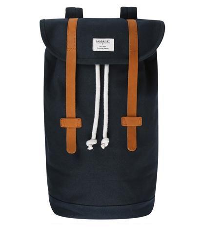 Navy Stig Canvas Backpack Sandqvist. Shop The Latest Men's ...