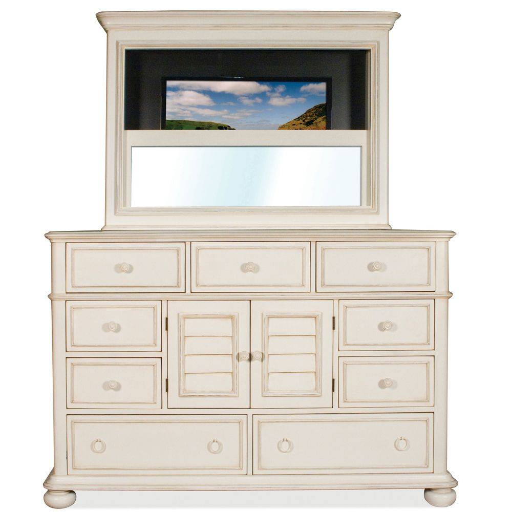 Bedroom Tv Above Dresser Like The Idea Of A Frame Around It