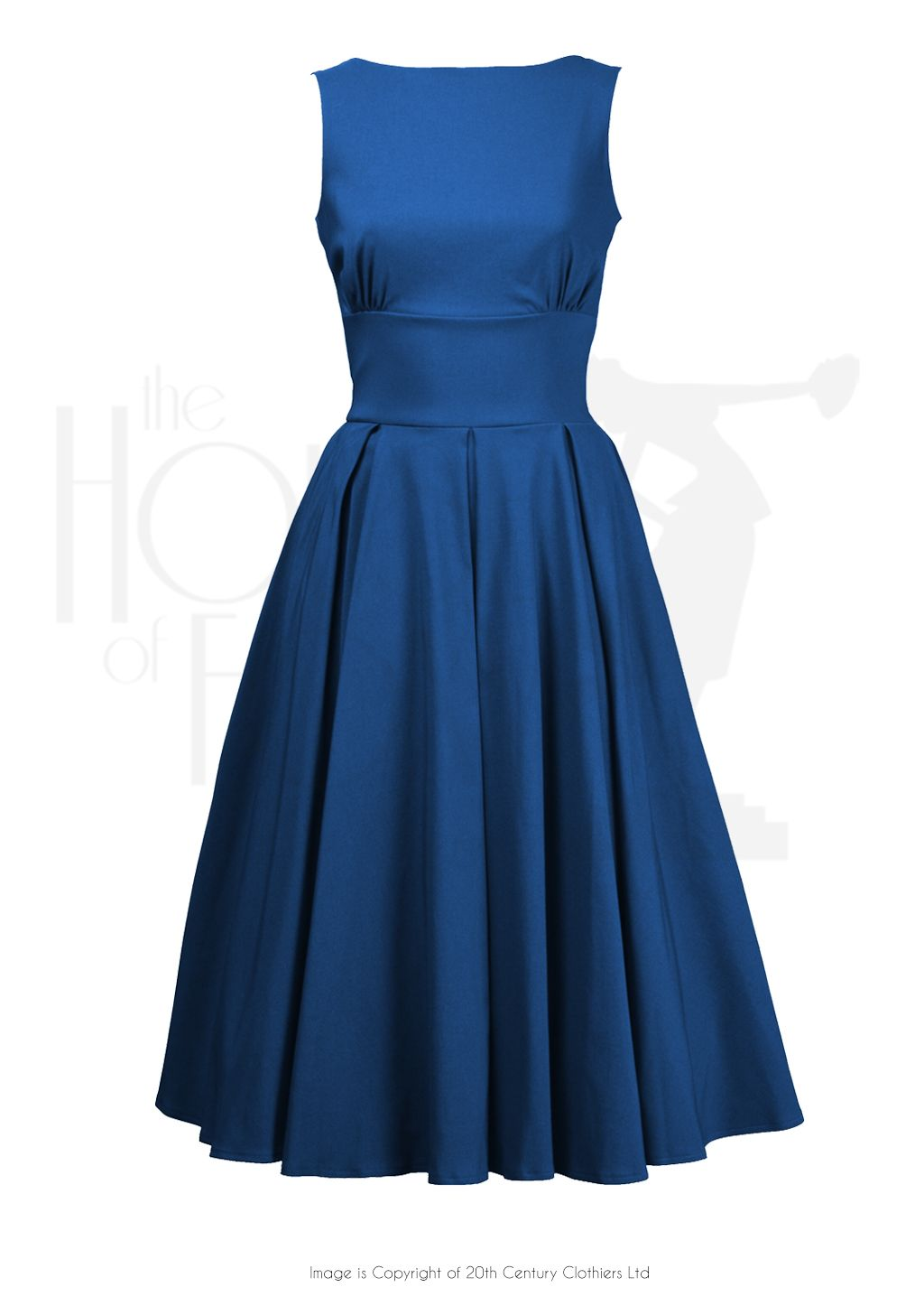 1960s Inspired Betty Swing Dress in Teal very madmen