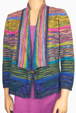 Technicolor Jacket, As Seen on Knitting Daily TV Episode 602 - Knitting Daily -- free pattern