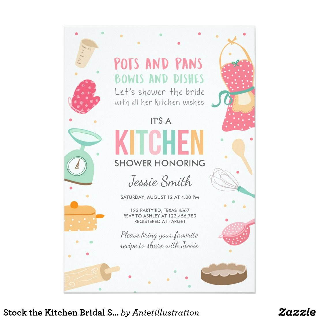 Stock the Kitchen Bridal Shower Invitation Cooking | Shower ...
