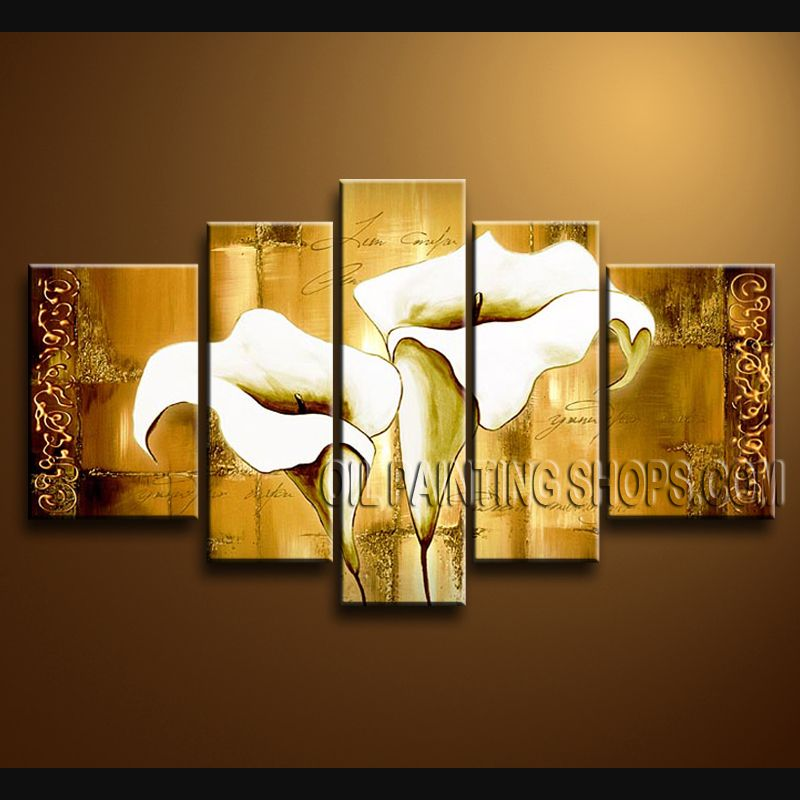 Beautiful Contemporary Wall Art Hand-Painted Art Paintings For Bath ...