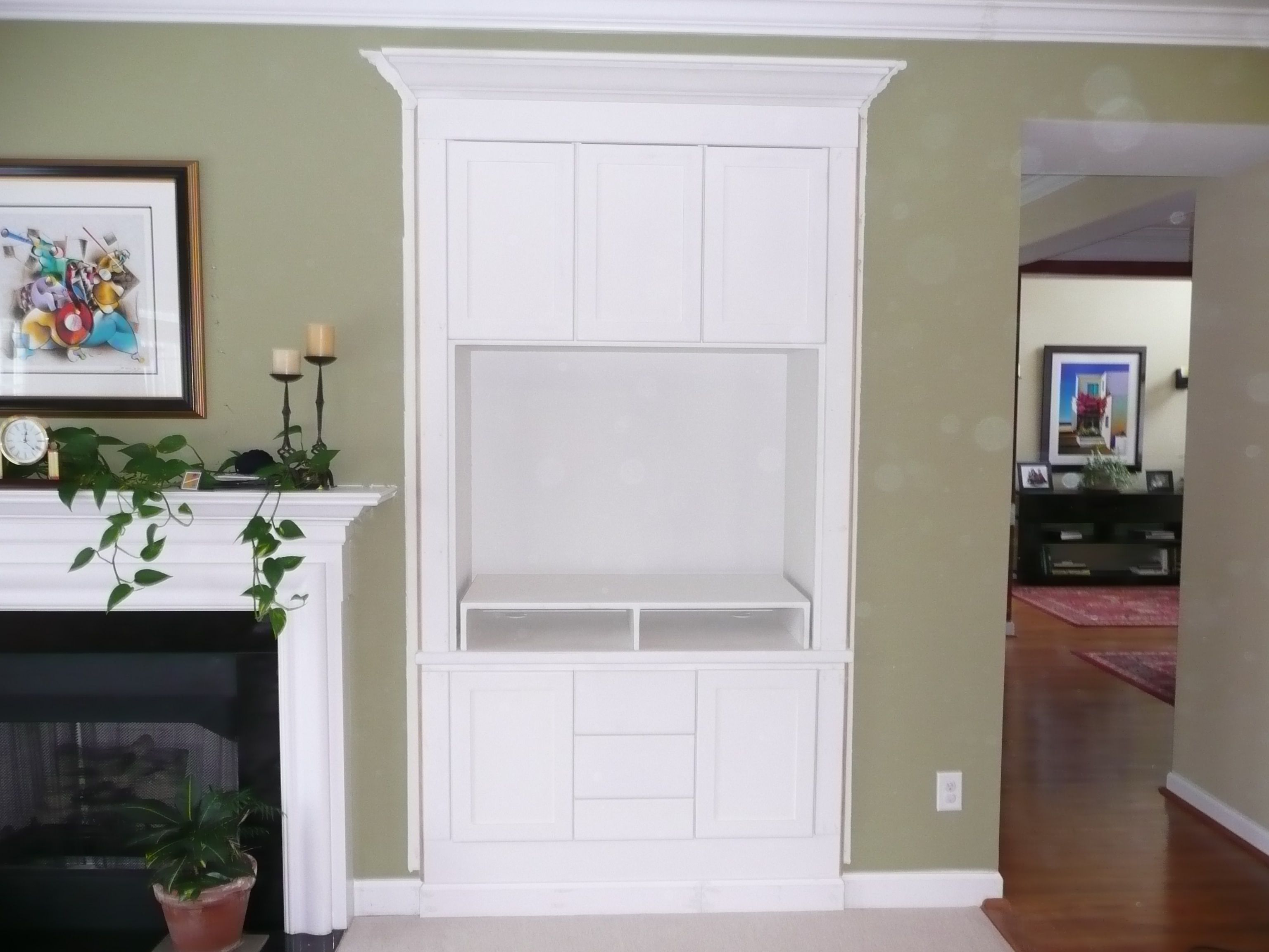 Built-in Entertainment Center--idea for living room. Like the crown ...