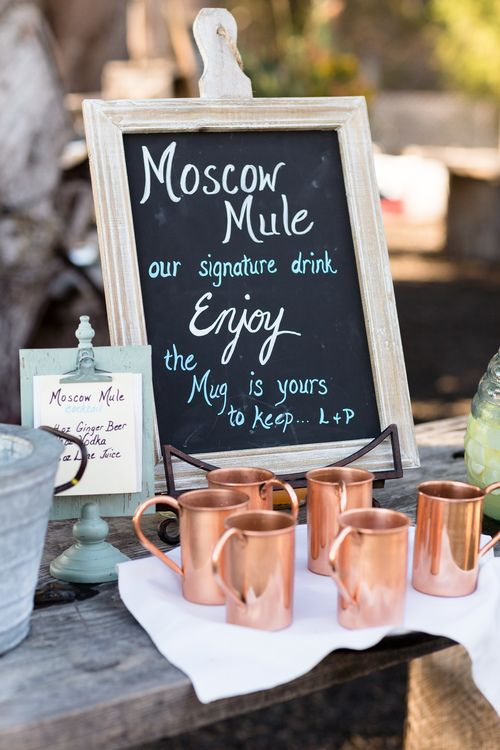 Reception Dinner Drinks Bar Moscow Mule Mugs Wedding Favors | Point ...