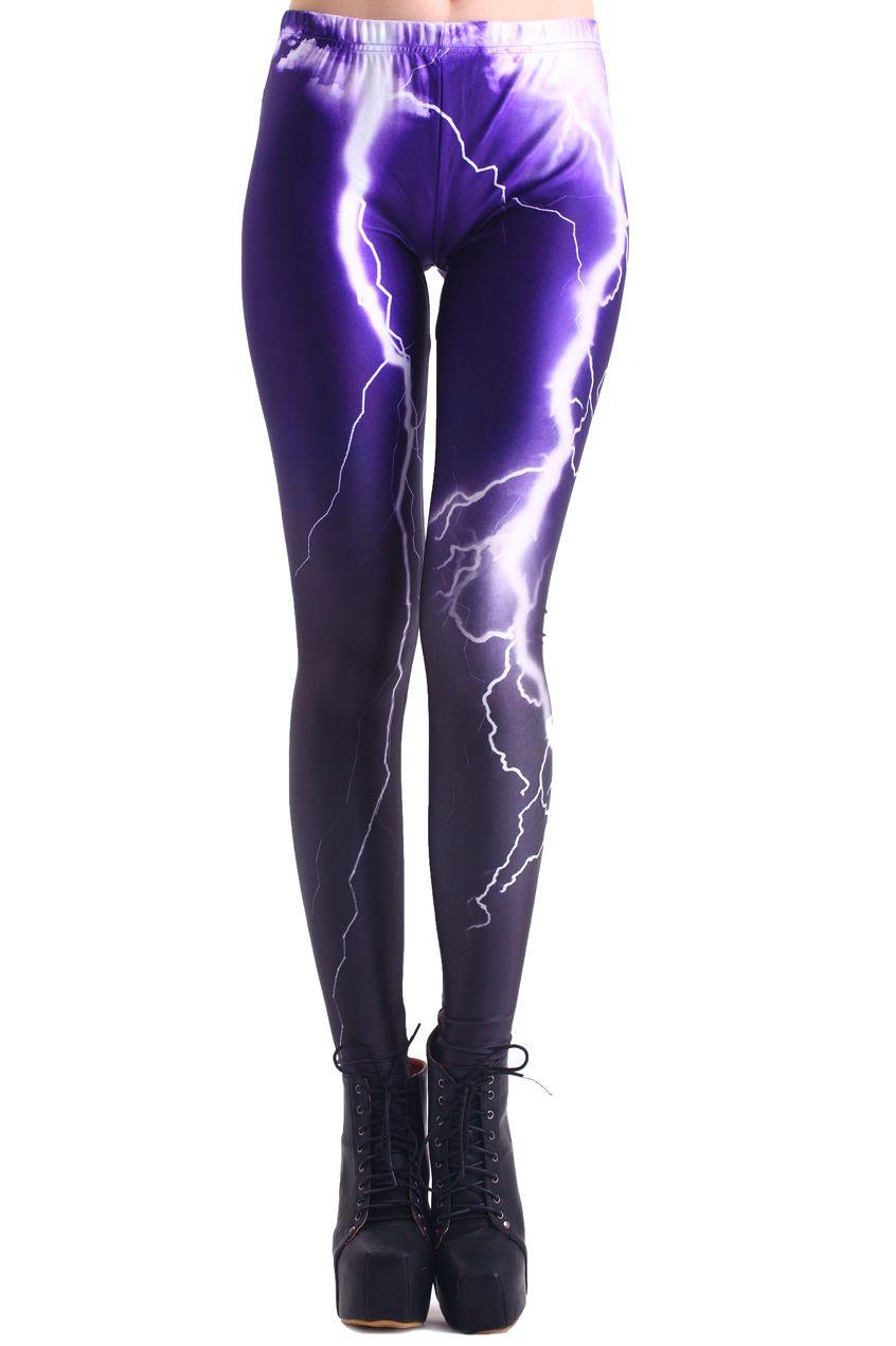 Flash Print Dip Dye Leggings