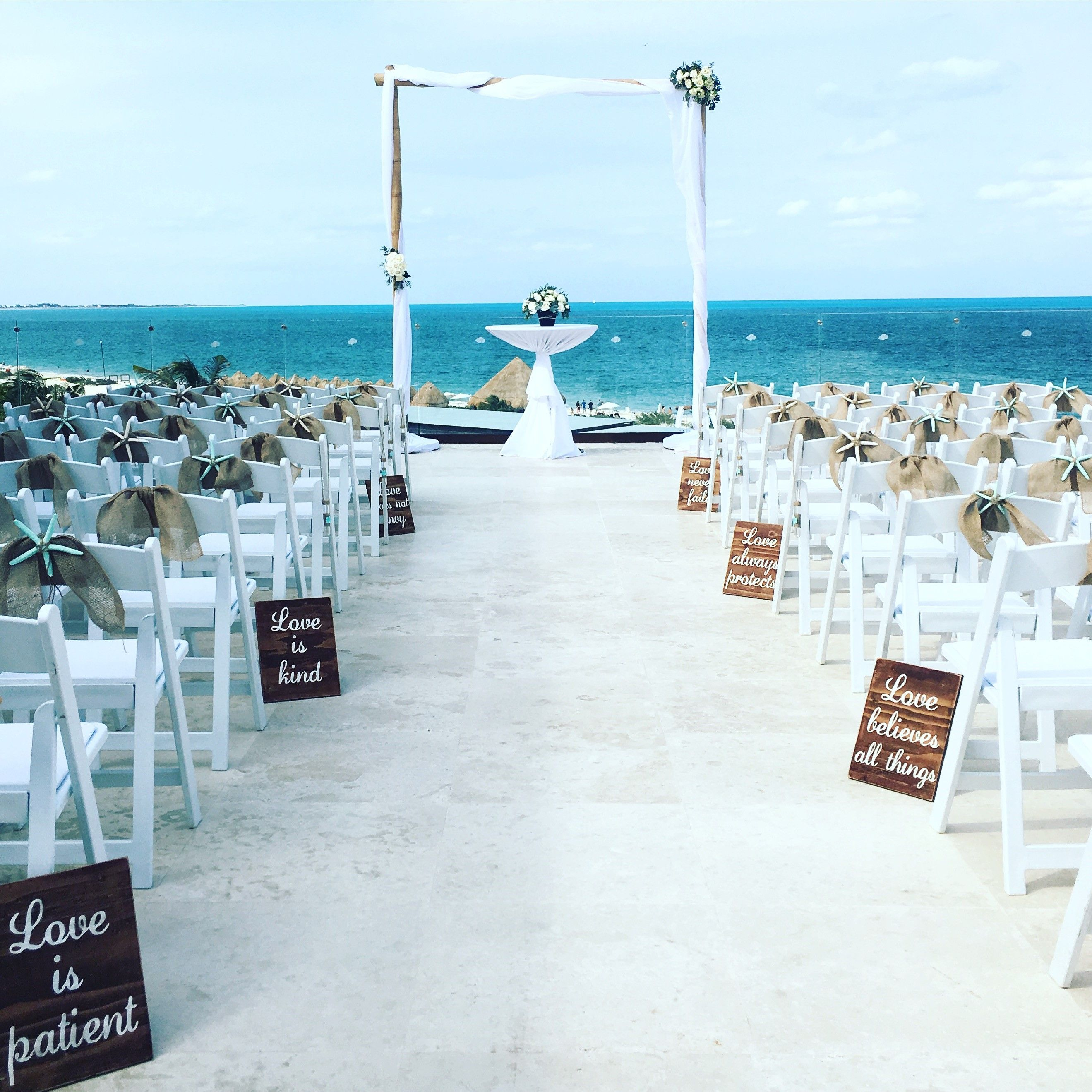 A ceremony setup at the Paramount Suite at Dreams Playa Mujeres ...