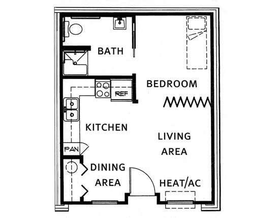 Floor plans for garage conversions gurus floor for Cheap garage apartment plans