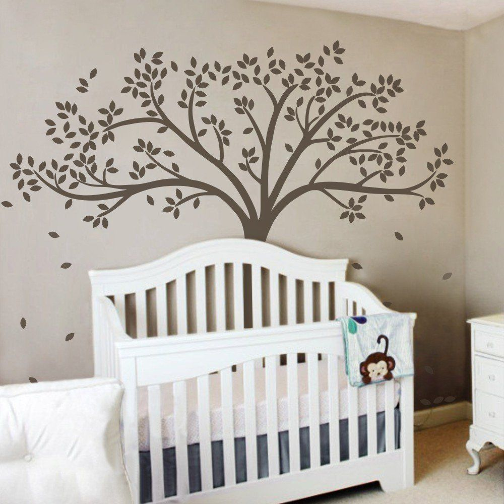 vinyl baum wandtattoo baum wandaufkleber fall baum wand dekor baumschulen wand abziehbild baby. Black Bedroom Furniture Sets. Home Design Ideas