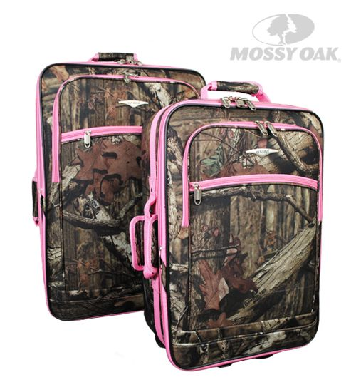 Mossy Oak 2 Piece Rolling Luggage Set in Break-Up Infinity with ...