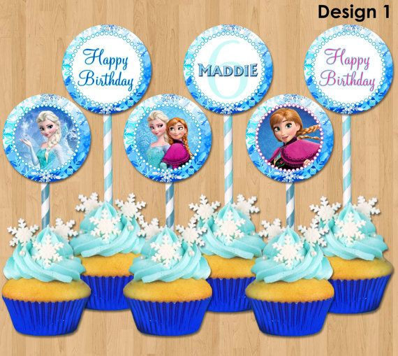 Frozen Cupcake Toppers Disney Frozen Cupcake Toppers Printable 2