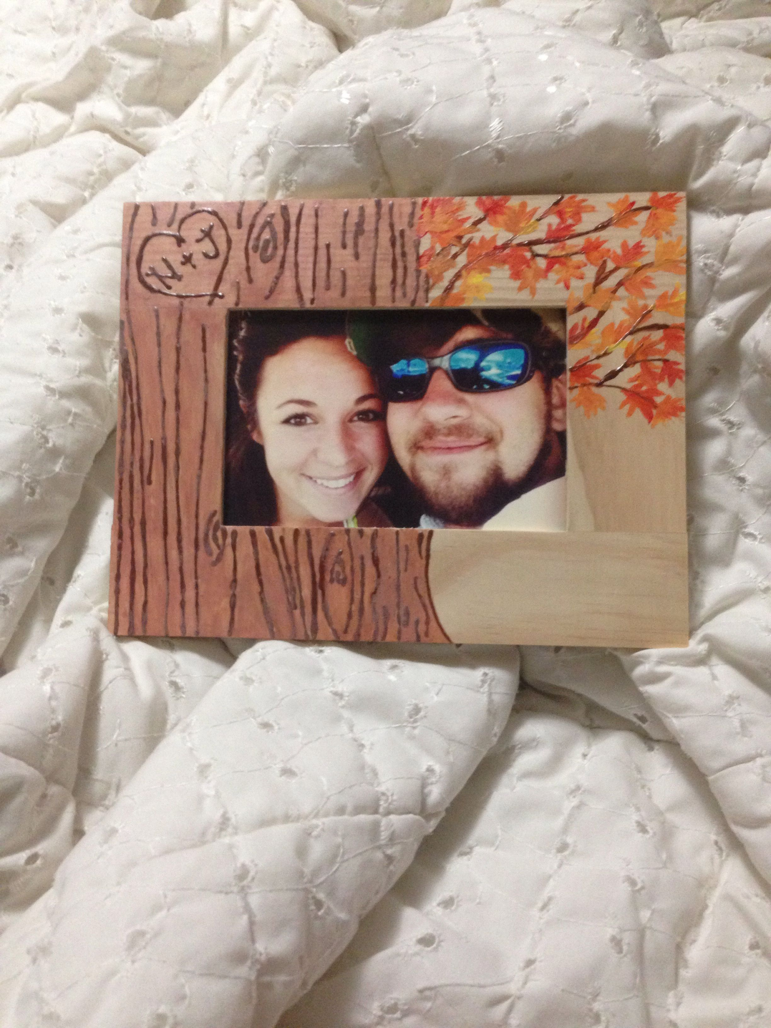 Cute Hand Painted Frame Idea For Your Boyfriend With Images
