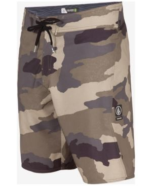New Volcom Lido Solid Mod Boardshorts Camouflage