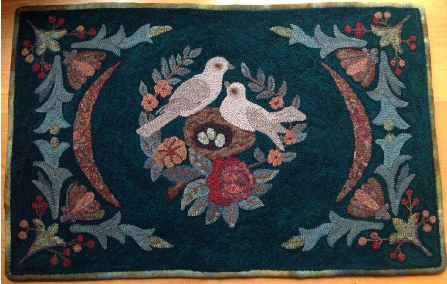 Hooked rug Rug hooking, Rugs, Birds