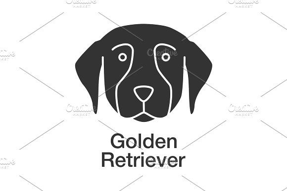 Golden Retriever Glyph Icon By Icons Factory On Creativemarket