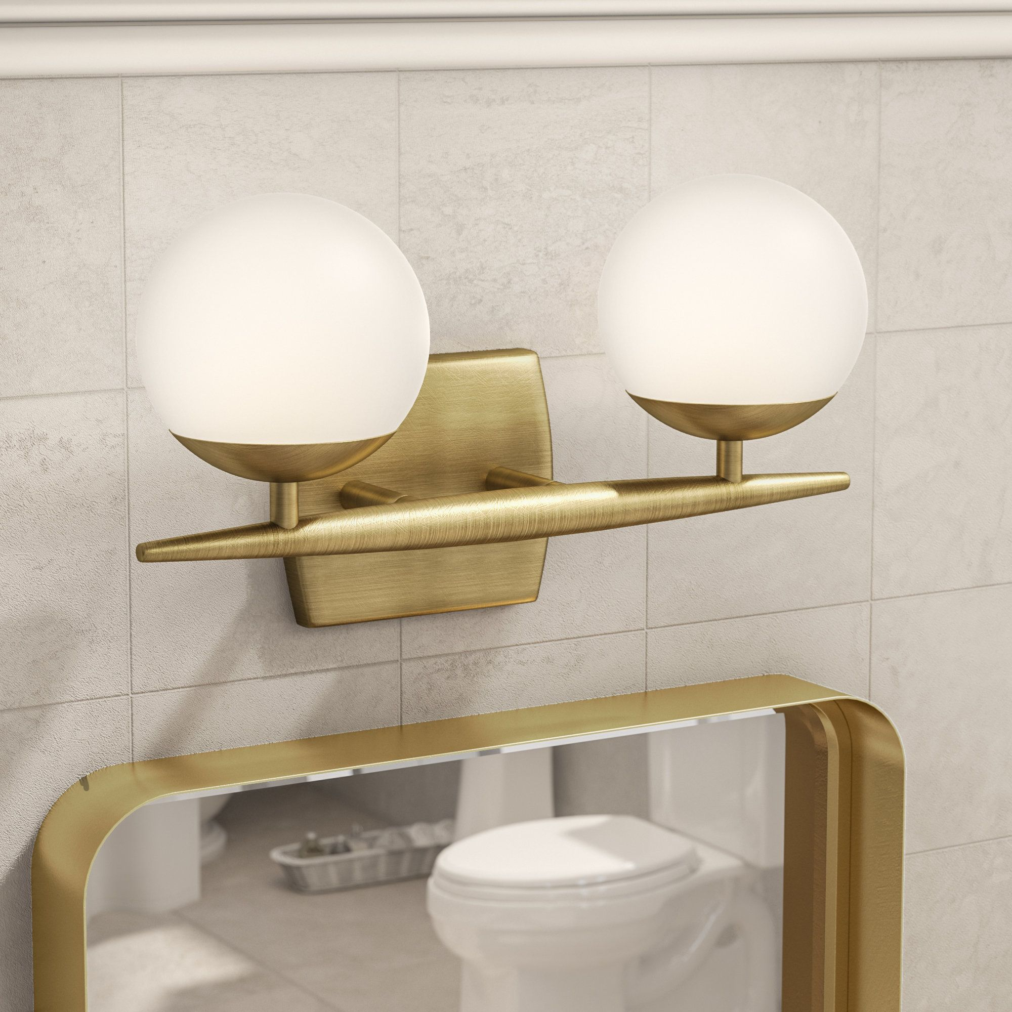 Tasha 2Light Vanity Light Joss & Main Bathroom decor
