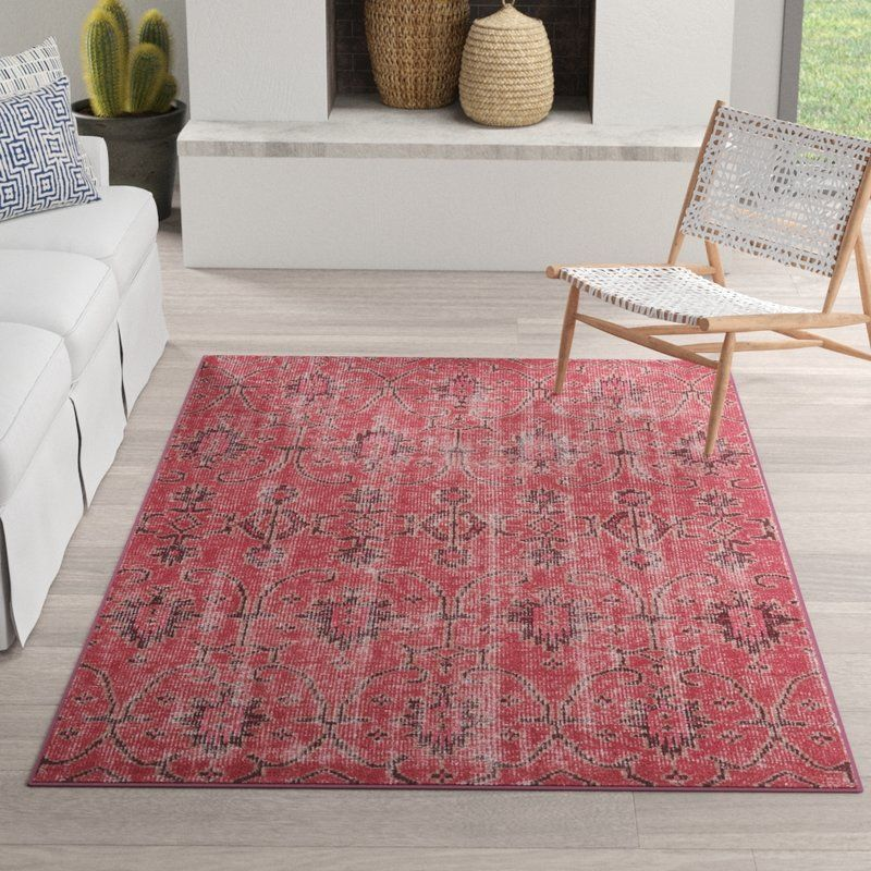 Anjali Hand Knotted Wool Raspberry Burgundy Milk Chocolate Brown Area Rug Pink Area Rug Area Rugs Brown Area Rugs