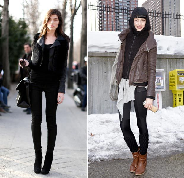 models-winter-street-style-leather-jacket.jpg (620×600) | girls ...