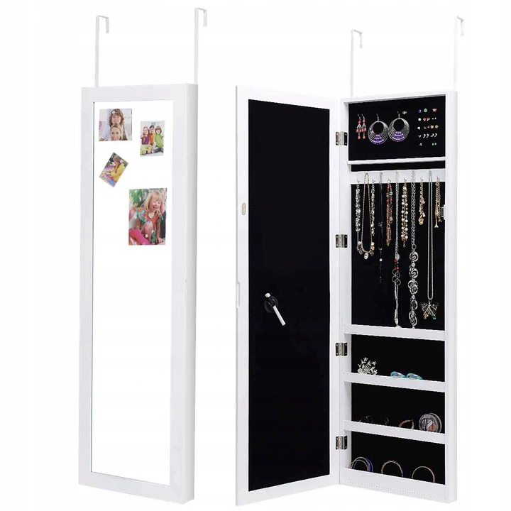 Szafka Na Bizuterie Akcesoria Z Lustrem Na Drzwi 8435032721 Oficjalne Archiwum Allegro Locker Storage Jewelry Cabinet Cabinet
