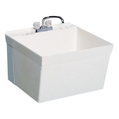 Swan, 22.875 In. X 23.375 In. Veritek Wall Mount Laundry Tub, MF10000WM.001  At The Home Depot   Tablet $75