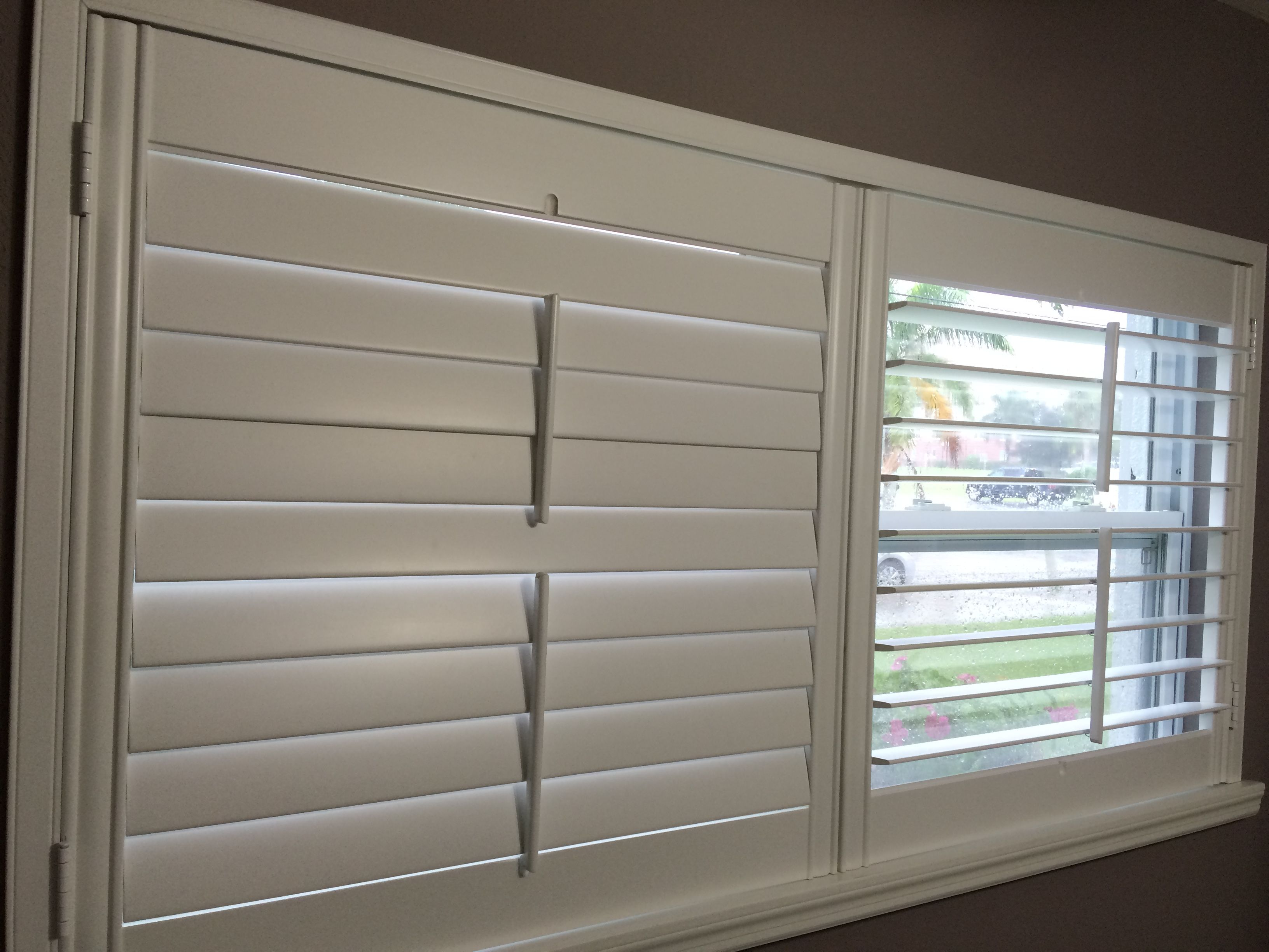 Plantation Shutters, Split Tilt Bar  Custom Built In Usa
