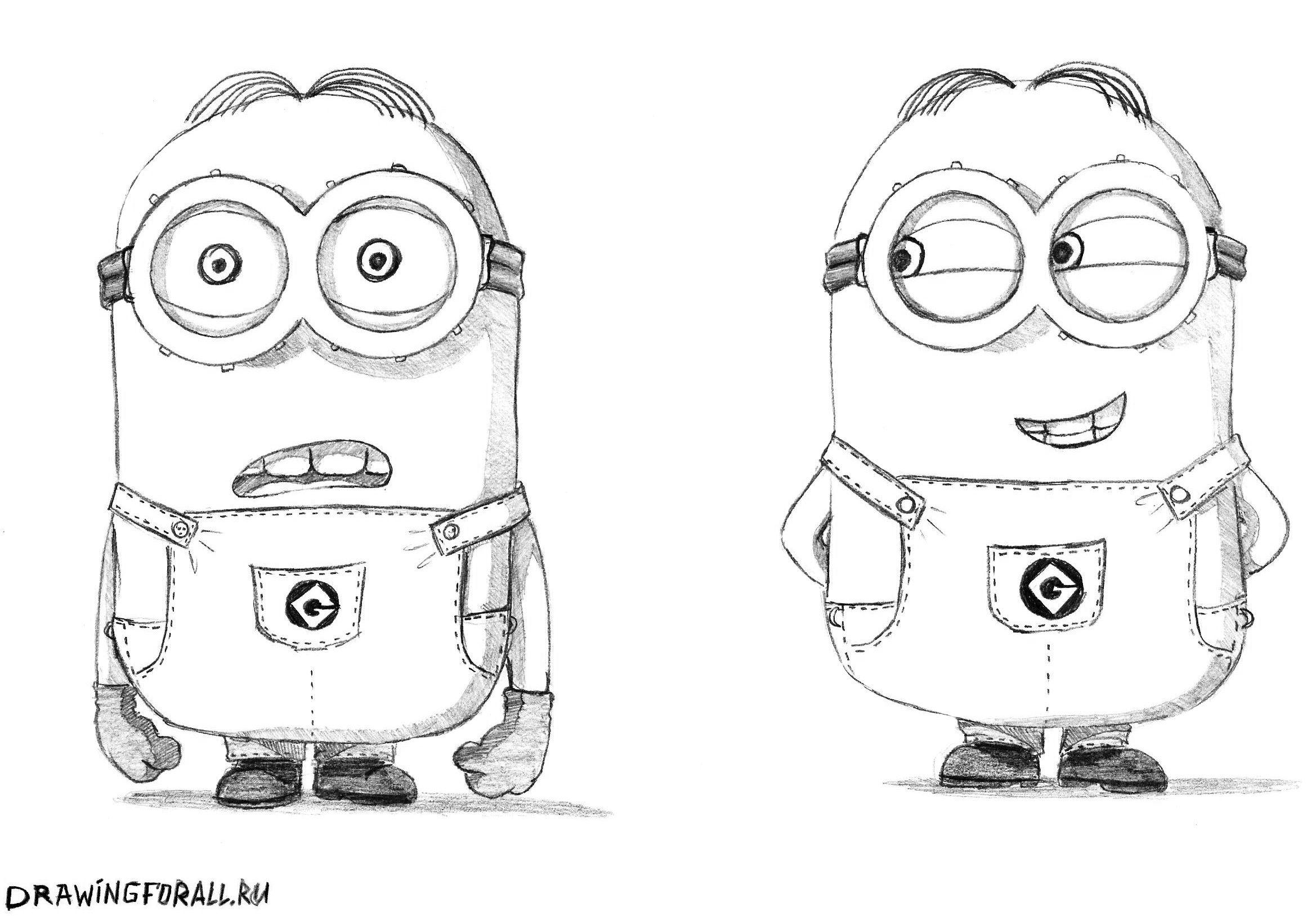 Прикольные рисунки простым карандашом для начинающих