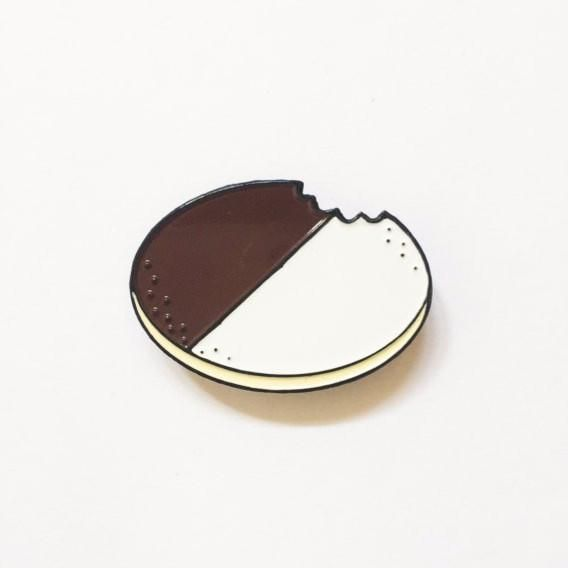 'Black & White Cookie' Pin – Gimme Flair