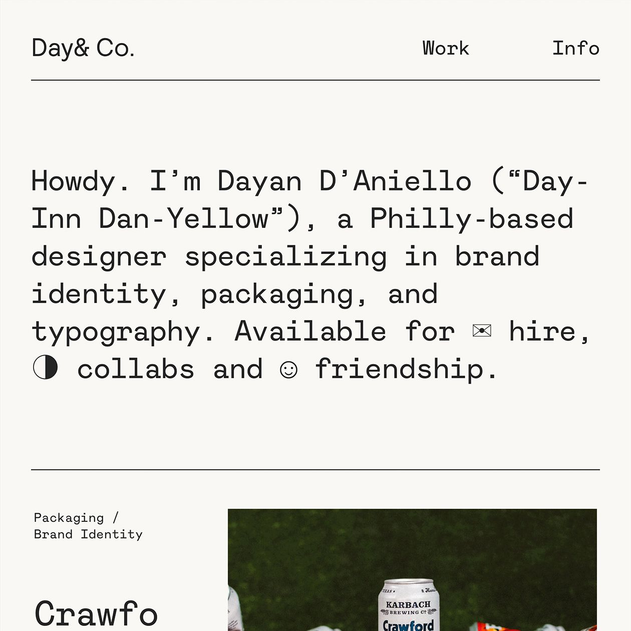 Day& Co. · Typewolf in 2020 Typography, Typography
