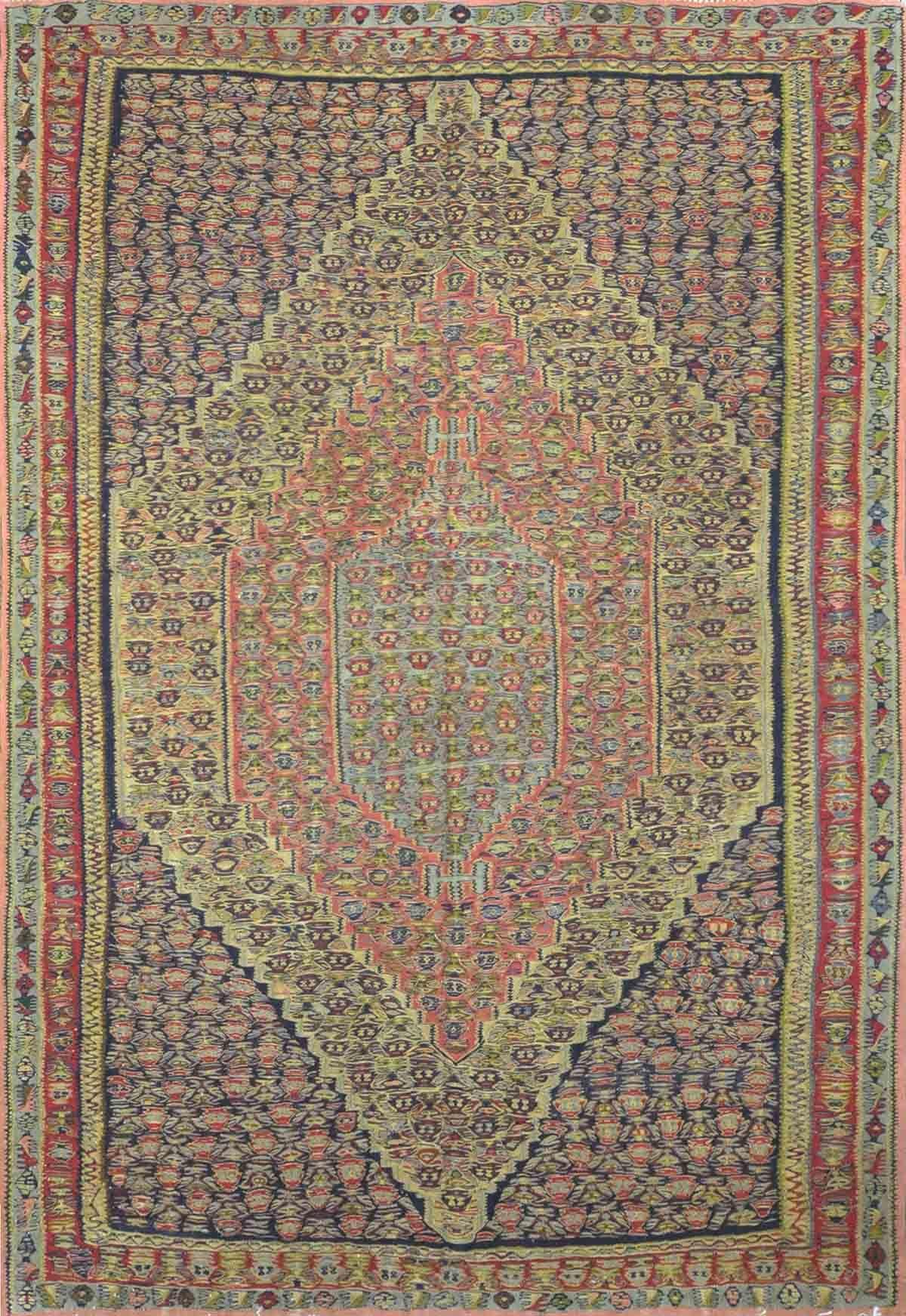 Persian Senneh Kilim Rug Design 1084 6 2 X 9 1