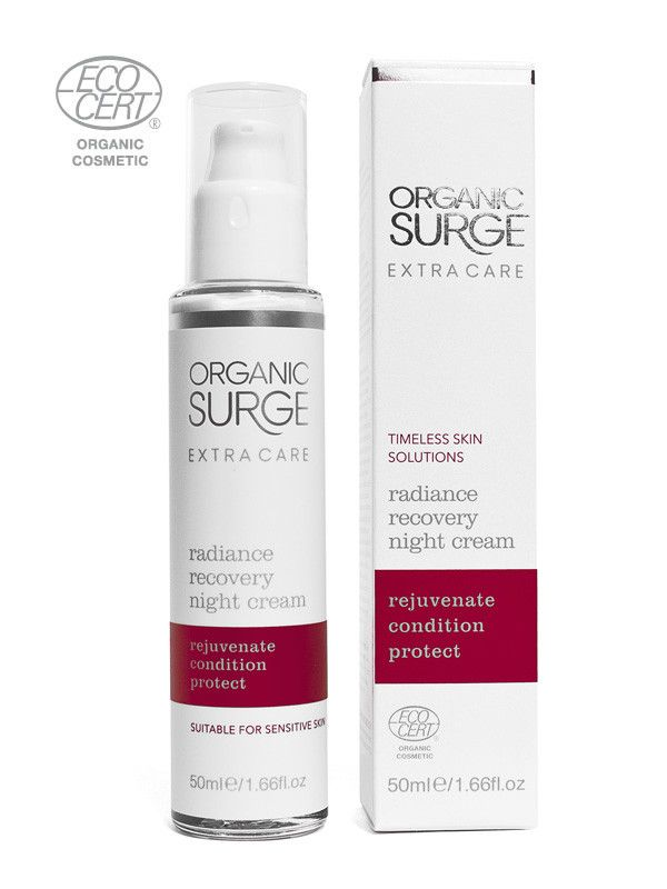 Organic Surge Radiance Recovery Night Cream Enriched with Safflower Oi | Organic Surge
