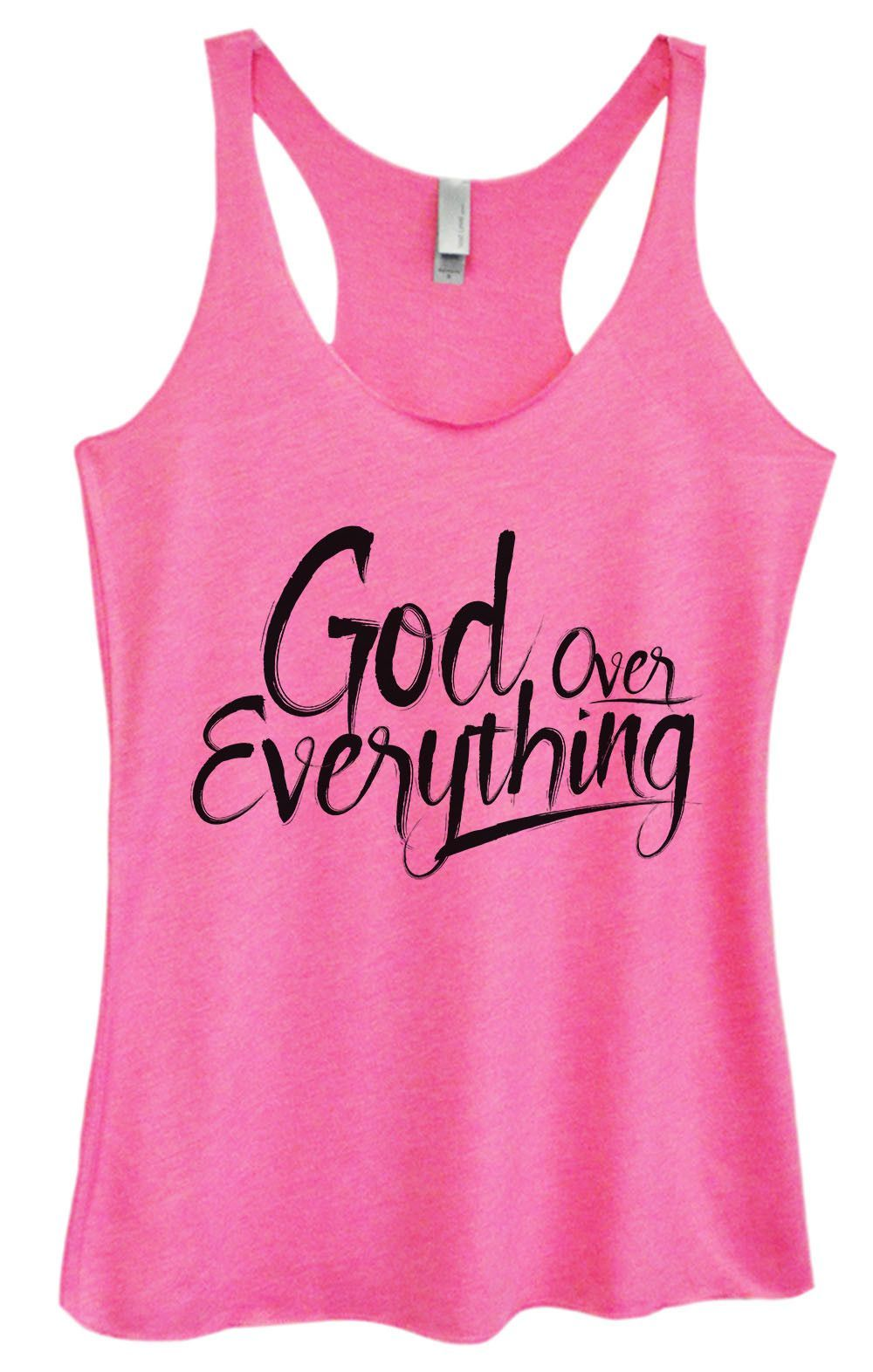 Womens Tri-Blend Tank Top - God Everything Over