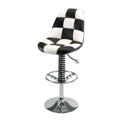 pit stop furniture racing style adjustable height swivel bar stool