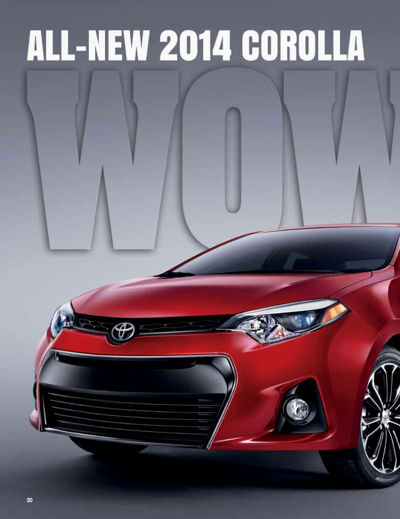 Nice example of a ToyotaCorolla ad enriched with Layar
