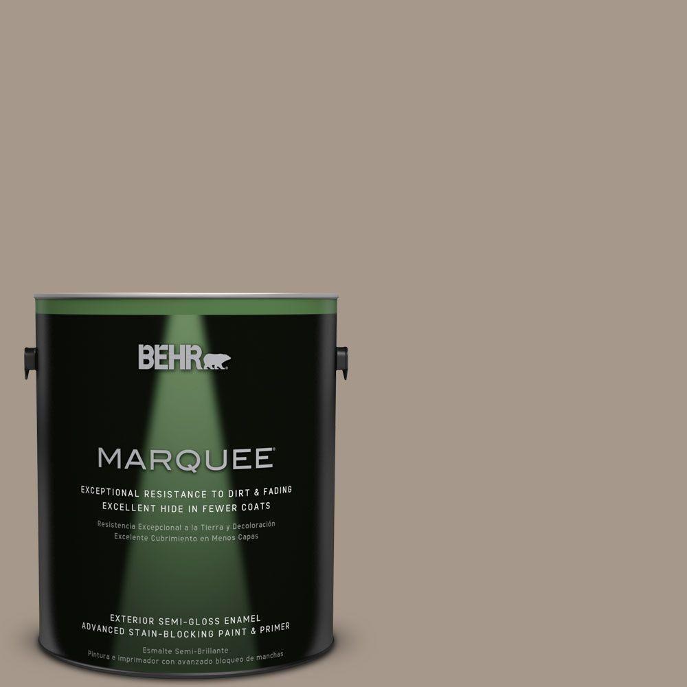 BEHR MARQUEE 1-gal. #PPU5-7 Studio Taupe Semi-Gloss Enamel Exterior on satin versus semi-gloss finish, satin vs eggshell for living room, satin vs eggshell paint, gloss vs flat paint, satin white paint, satin vs flat paint, satin vs semi-gloss paper, satin wall paint, satin gray paint, satin vs matte paint, satin finish paint, satin vs gloss wood, painting with satin paint, flat or satin paint, satin vs semi-gloss polyurethane, satin chrome, satin vs semi gloss black, acrylic vs enamel model paint, matte vs flat paint paint,