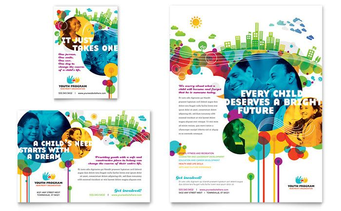 Youth Program Flyer And Ad Design Template By Stocklayouts | Art