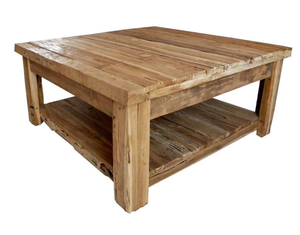 Square Coffee Tables Reclaimed Wood Square Coffee Table