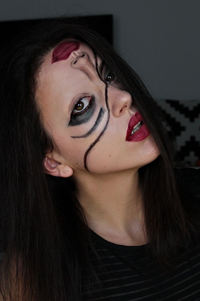 Make up Halloween gruselig