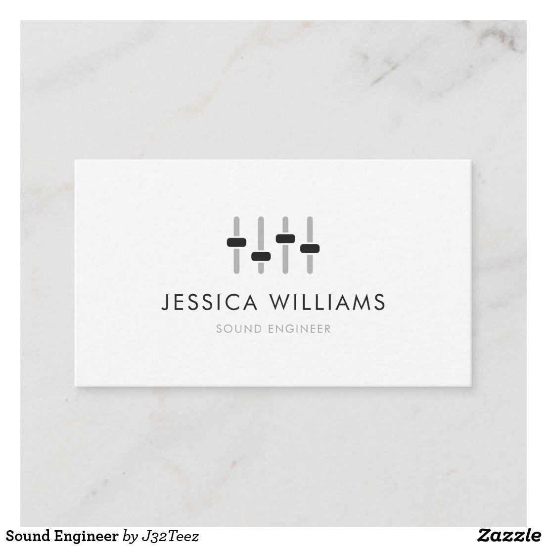 sound engineer business card  zazzle  sound engineer