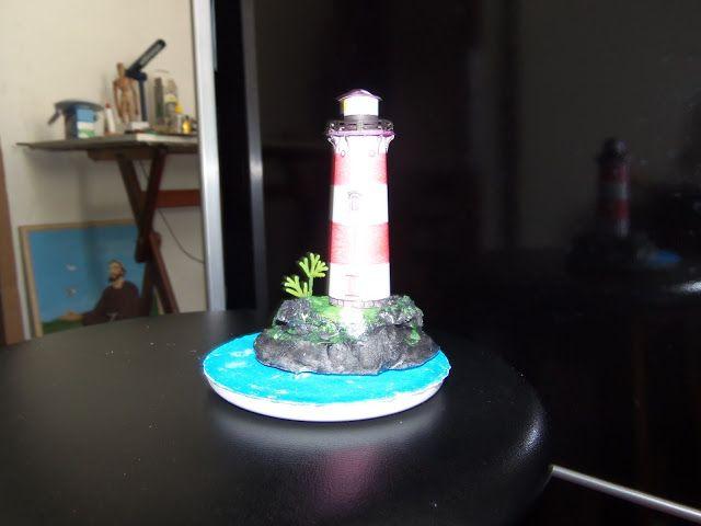 De cartolina: Esse é o meu 2º diorama de um farol!