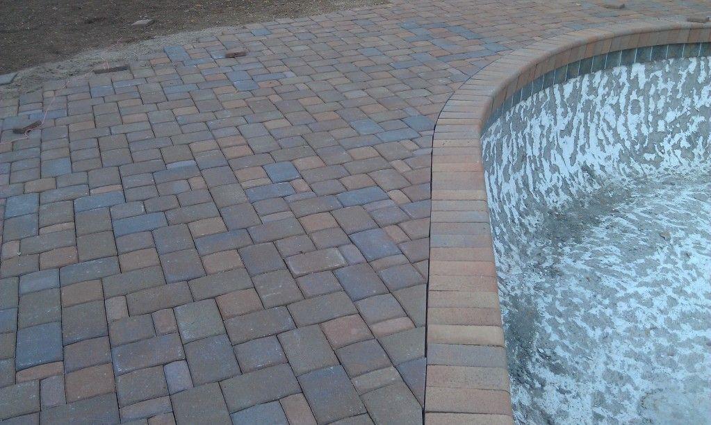 pool deck remodel in Phoenix Arizona using 30mm pavers