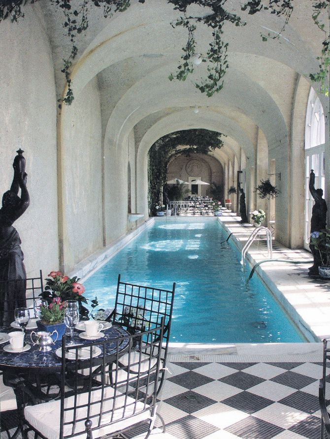 Indoor Lap Pool | Oheka Castle | Home Decor, High fashion ...