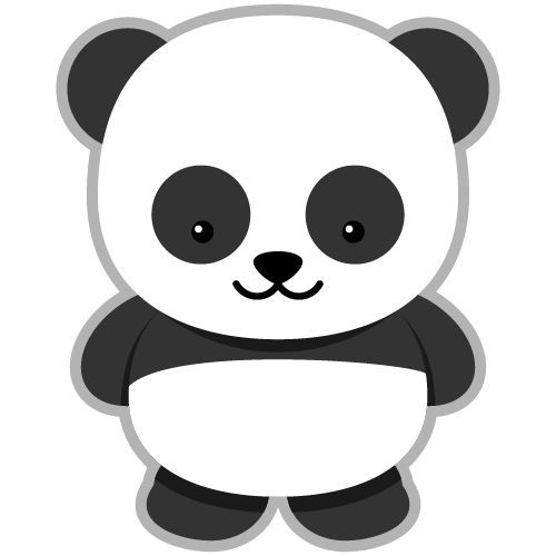 cute panda head clipart free clipart graphics pinterest rh pinterest com panda clipart free panda clipart black and white
