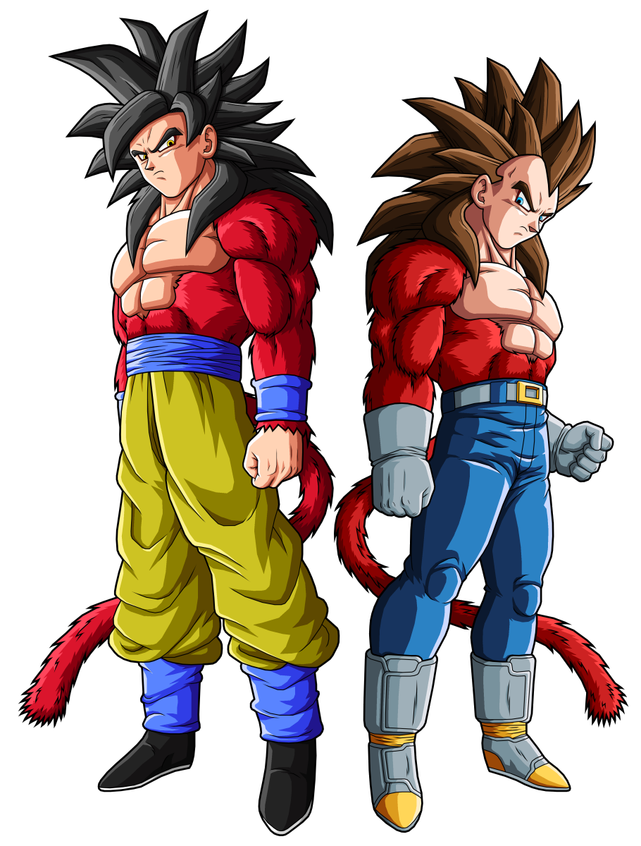 Goku Ssj4 Goku Y Vegeta Dragon Ball Dragones