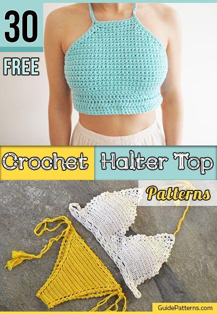 30 Free Crochet Halter Top Patterns Guide Patterns Swim Suits