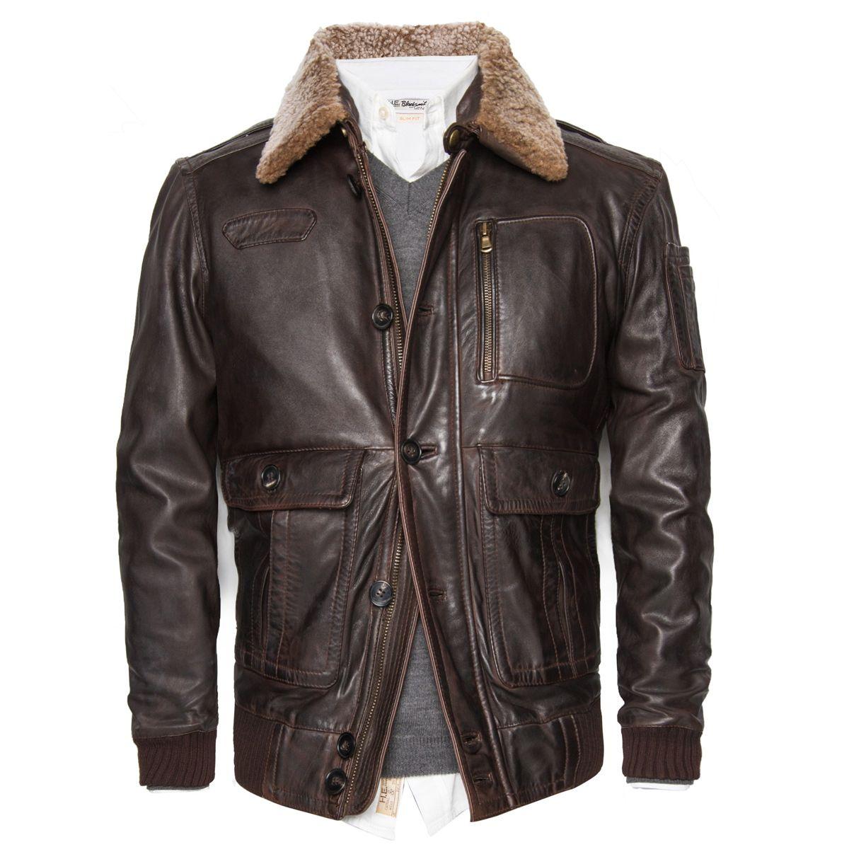 nueva colección grande descuento venta modelos de gran variedad CHAQUETA DE CUERO TIPO AVIADOR #aviador #chaqueta ...