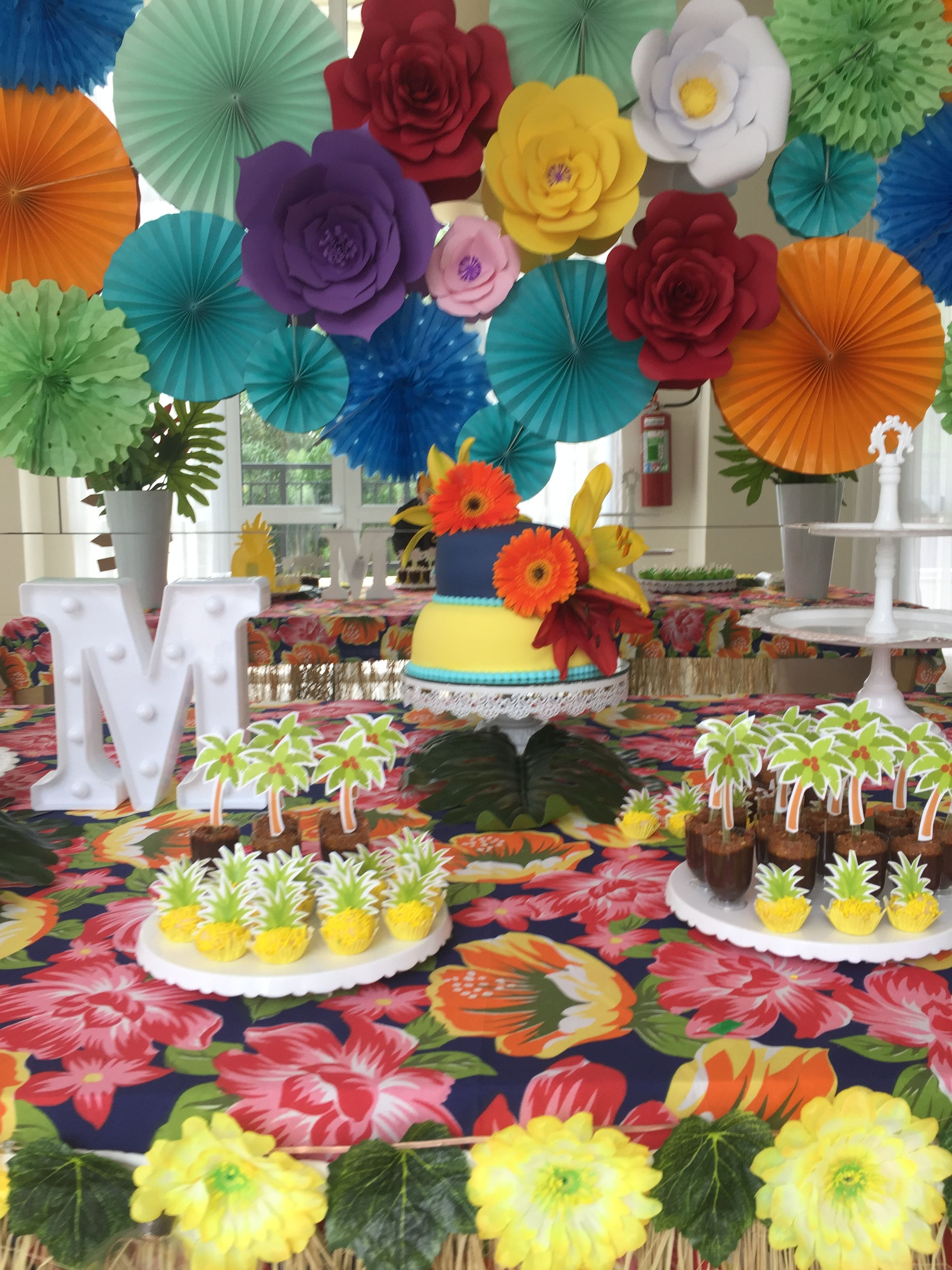 Pin de Virginia Ulhoa em Niver rafa Party, Birthday e Luau -> Decoração De Festa Havaiana Simples