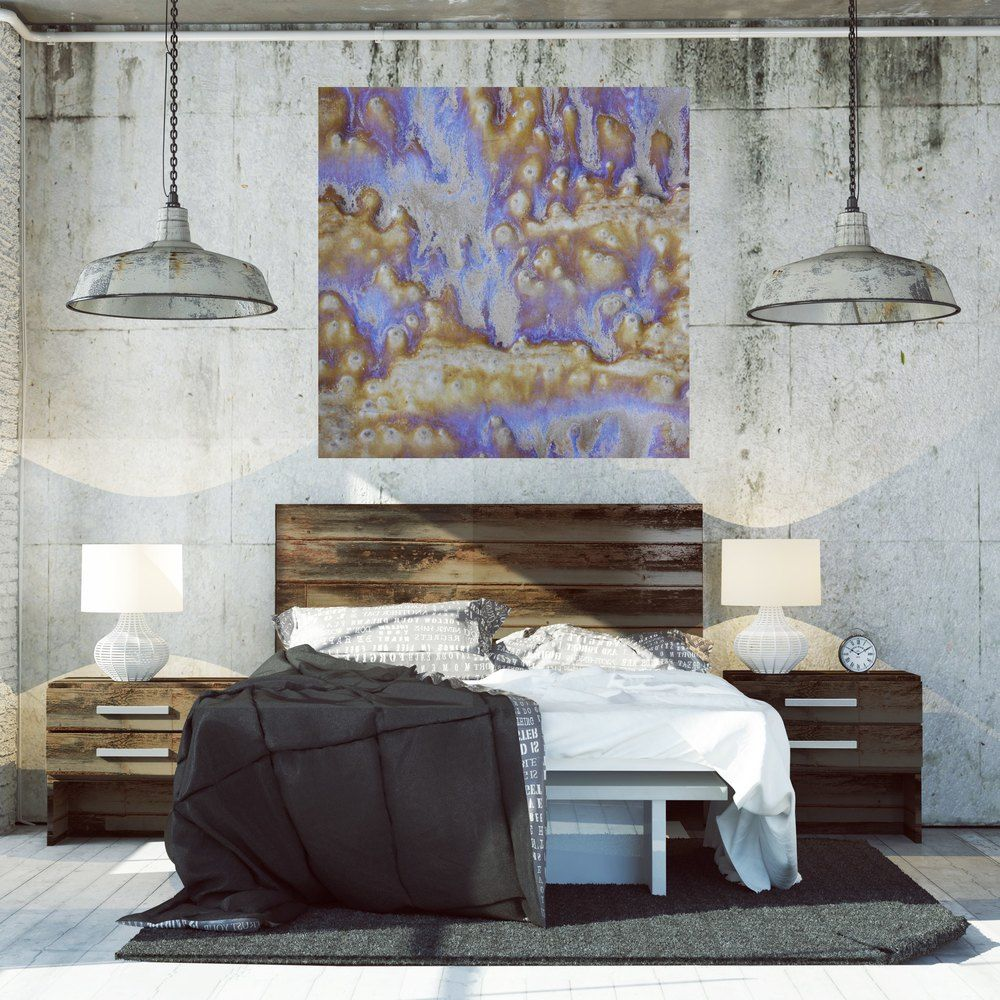 How to make your industrial loft beautiful with oversized artwork