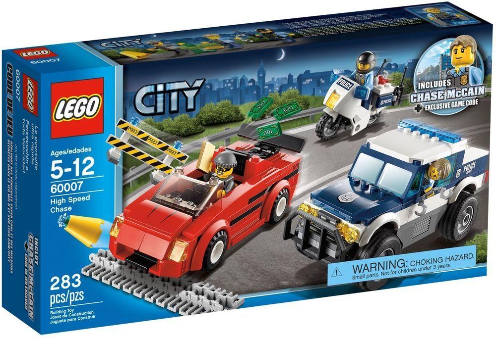 Lego City Police 60007 High Speed Chase New Factory Sealed Retired 2012 Set Nisb Lego Ebay Toys Legocity Lego City Sets Lego City Lego Police